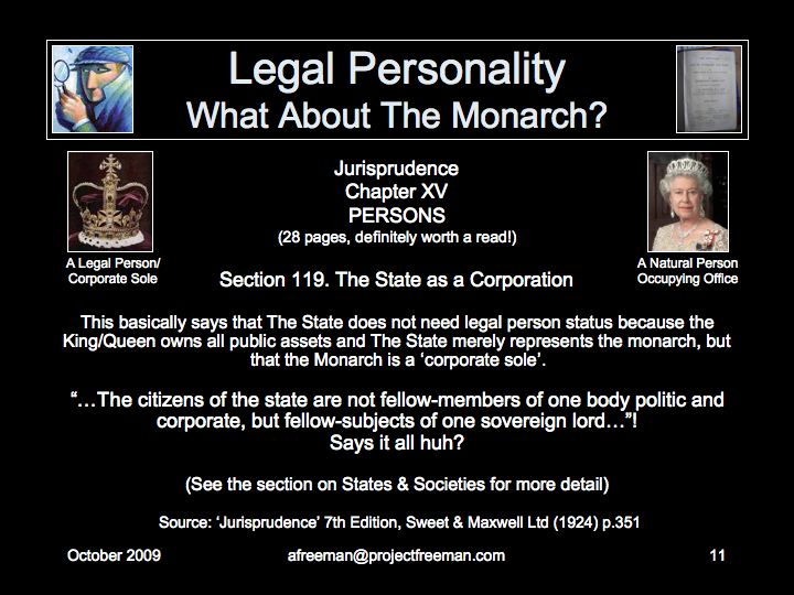 Project Freeman What Is A Person - Corporation legal documents