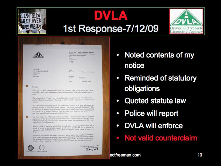 Project freeman phase3b23 notice to dvla here is the full letter page 1 spiritdancerdesigns Image collections